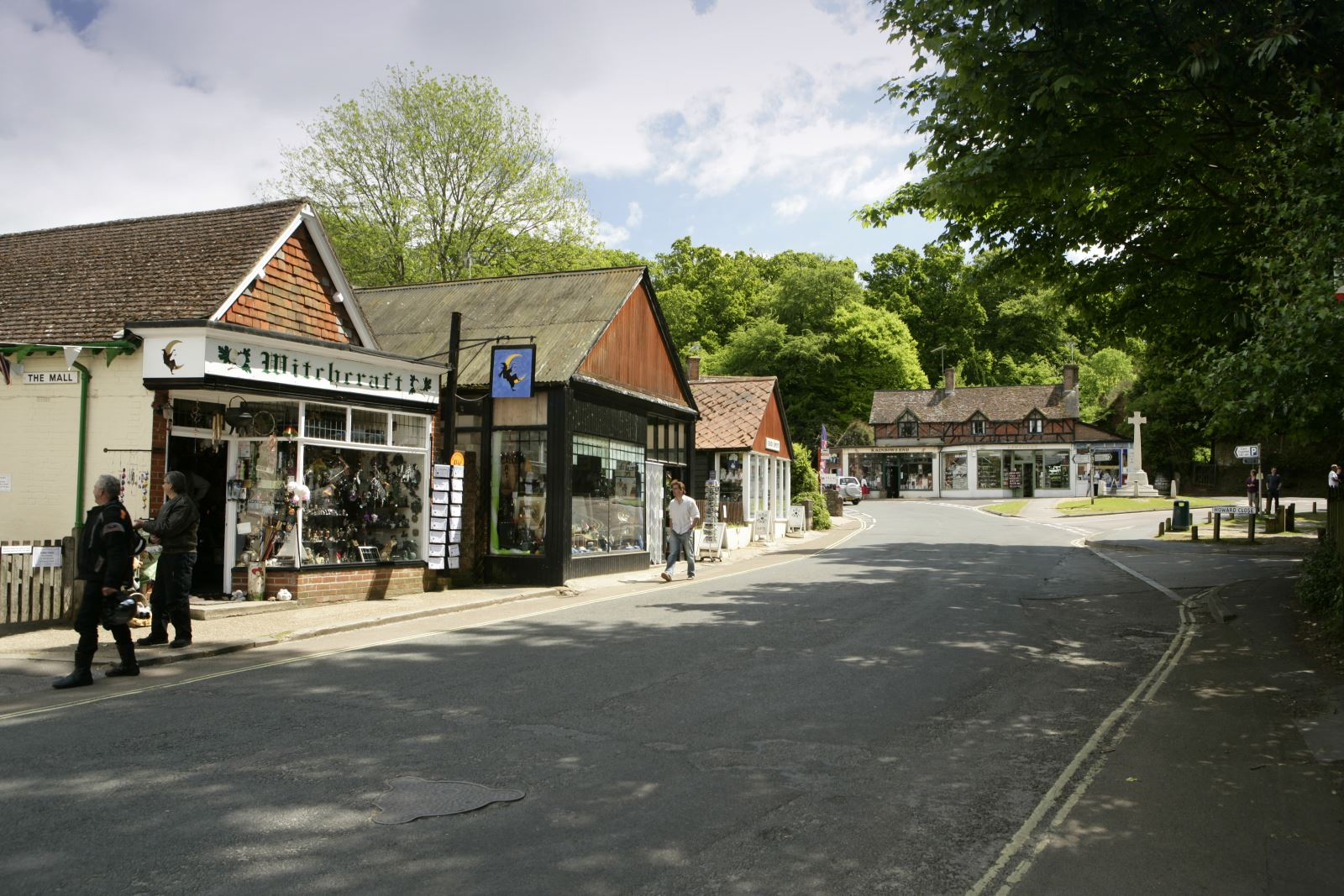burley village centre in the new forest