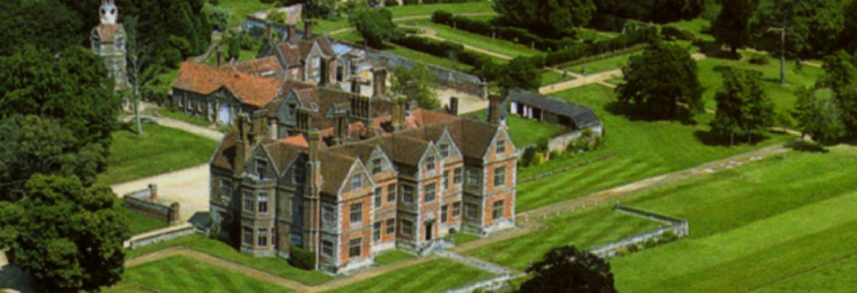 Birdseye view of Breamore House near Fordingbridge in the New Forest