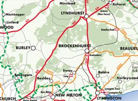 Digital print of new forest map