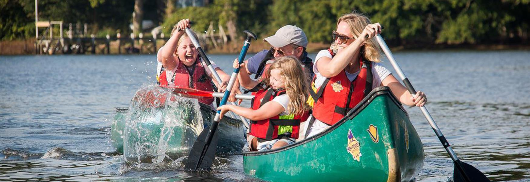 watersports/canoeing down beaulieu river with new forest activities in the new forest