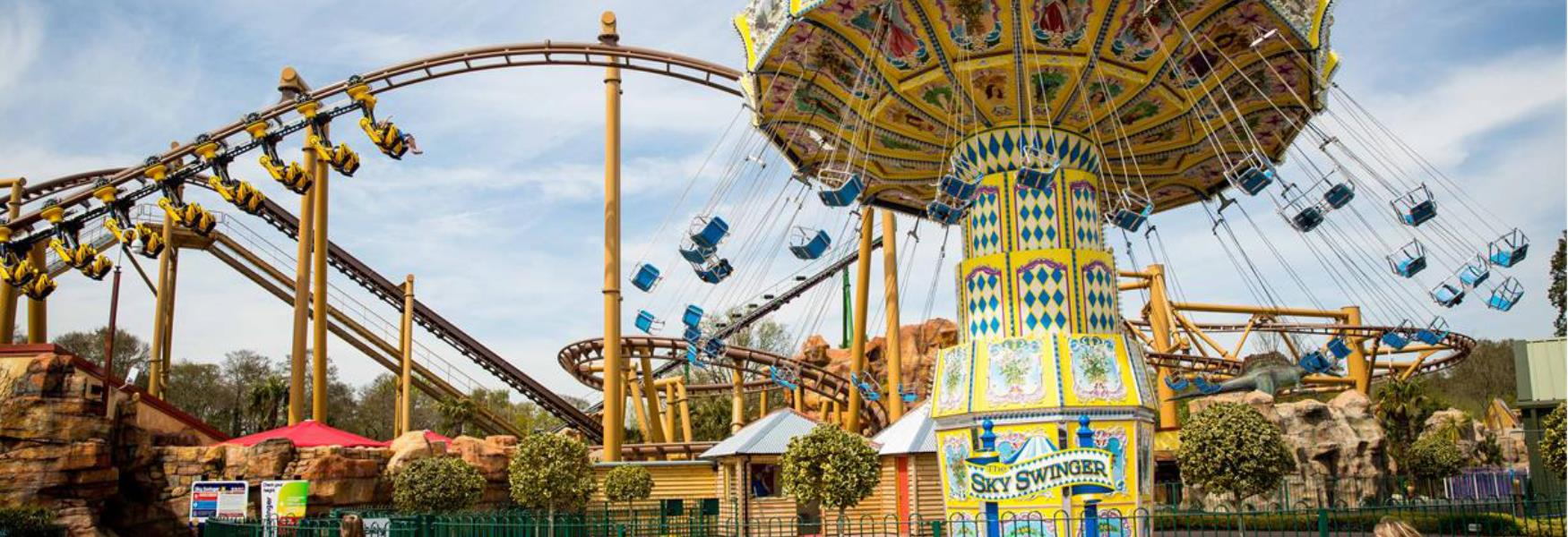 theme park rides at Paultons park in the new forest