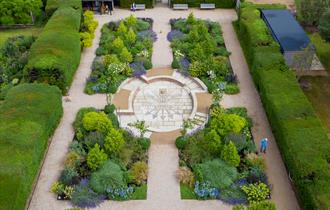 Aerial view of summer garden | Centenary Garden | Exbury Gardens & Steam Railway | New Forest attraction | Hampshire