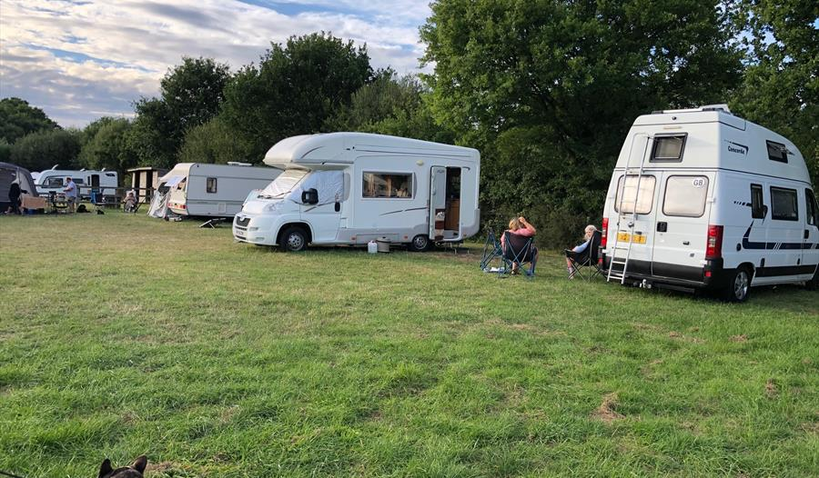 motorhomes at Paddock View in the New Forest