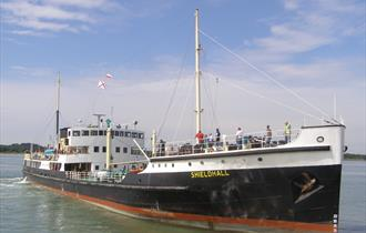 Steamship Shieldhall Southampton Docks Cruise to see cruise ships in berth