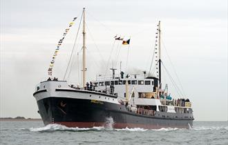 Steamship Shieldhall Bank Holiday Monday Trip to the Solent