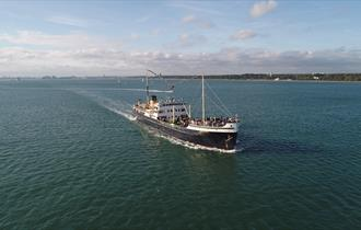 Steamship Shieldhall Titanic themed cruise and see cruise ships depart