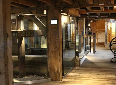 Inside eling tide mill experience in the new forest