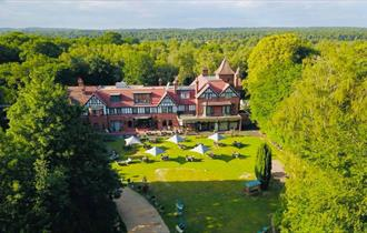 Birdseye View of the back of Forest Park Hotel in the New Forest