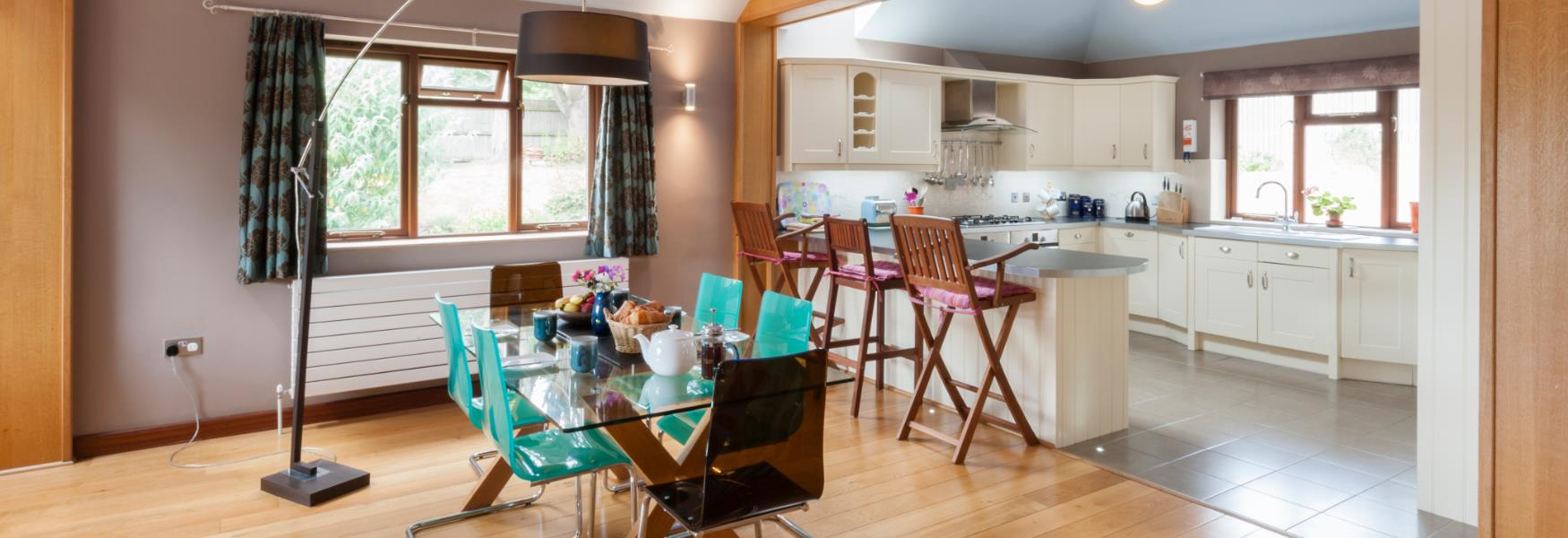 Big Kitchen and Dining Area in Holiday Cottage Self Catering in the New Forest
