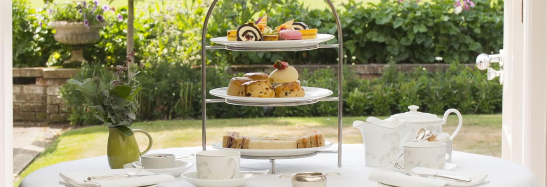 afternoon tea at Chewton glen hotel in the new forest