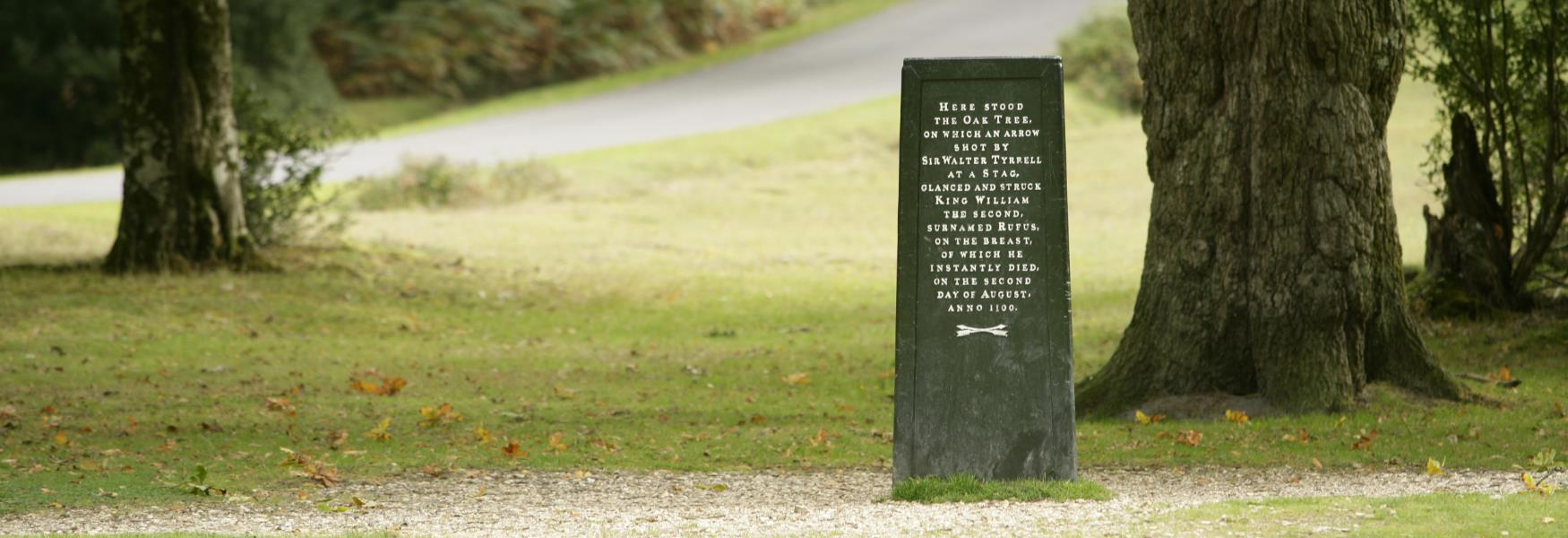 the rufus stone history and heritage site in the new forest