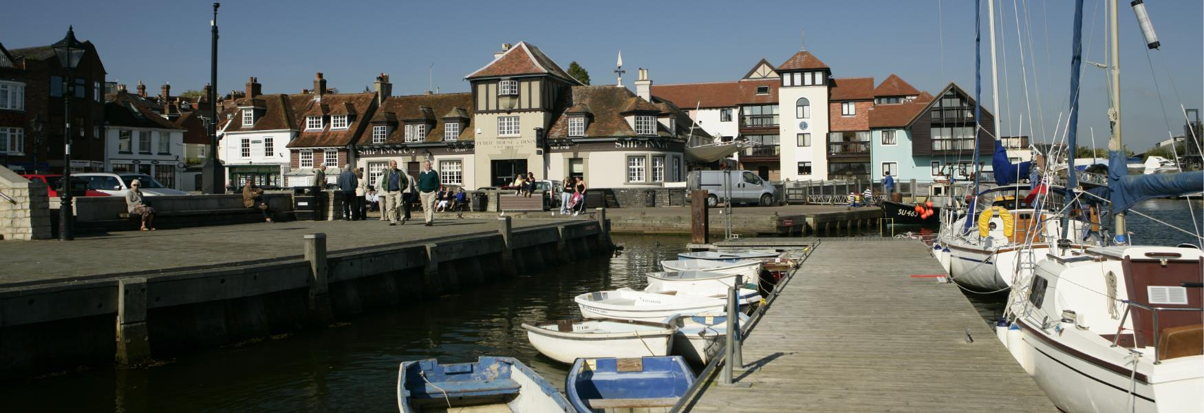 Boats at Lymington Quay in the New Forest