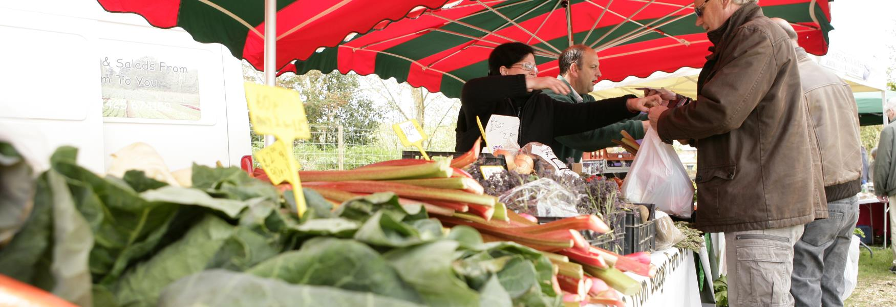 local produce fruit and vegetables at market in the new forest