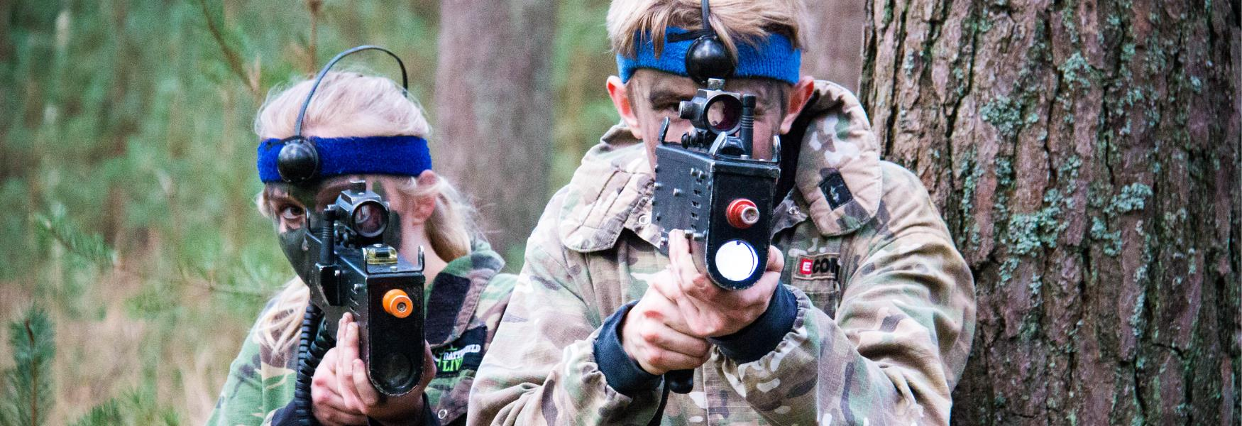 laser combat adventure activity in the new forest