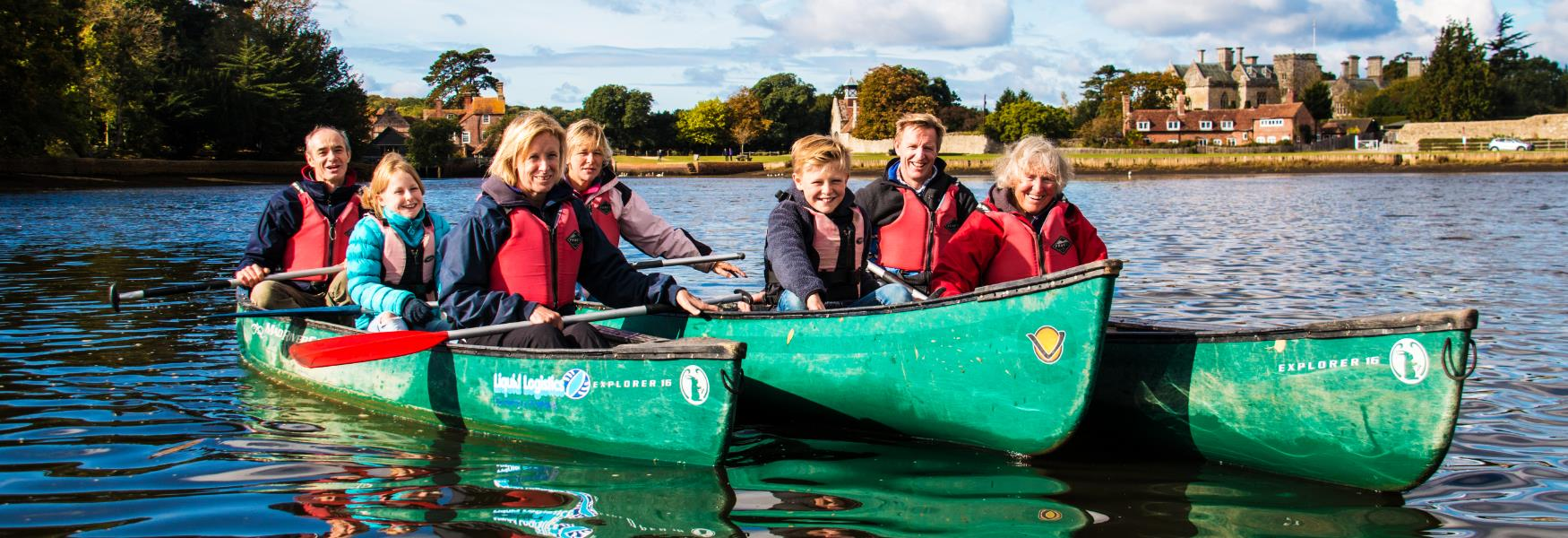 canoeing in beaulieu river with new forest activities in the new forest