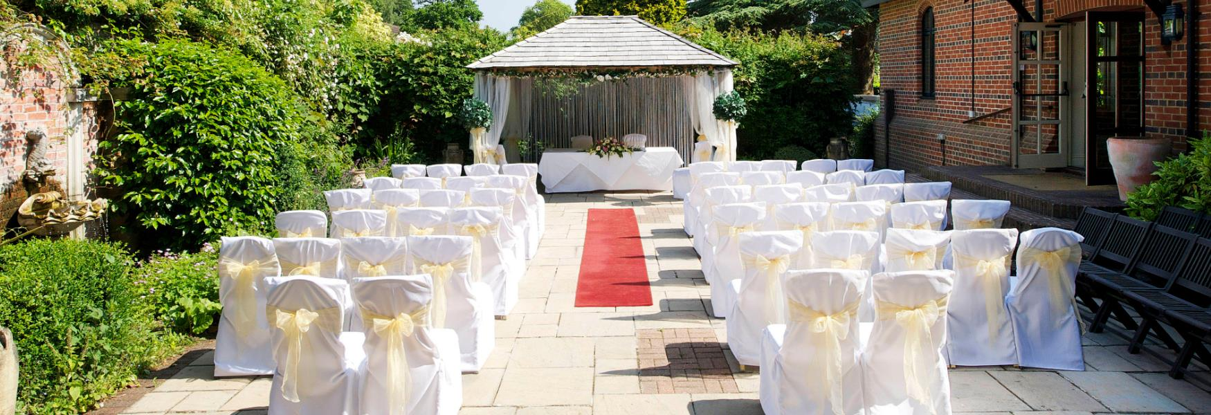 seating at wedding venue in the new forest