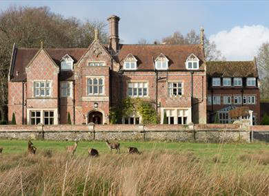 front of burley manor in the new forest