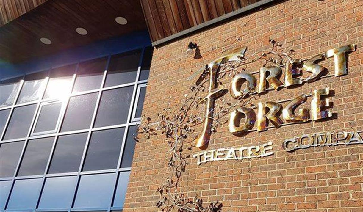 sign outside Forest Forge Theatre in Ringwood
