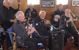 Father's Day sailing with the Shieldhall Stompers Jazz Band and see 3 cruise ships depart