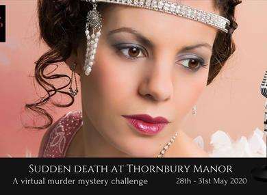 Sudden Death at Thornbury Manor A 4 day virtual Murder Mystery challenge