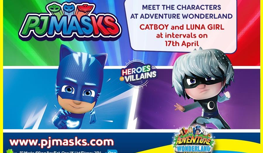 Come and meet PJ Masks' Catboy and Luna Girl