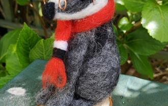 Needle Felting a Badger or Hare