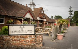 outside the walhampton arms in the new forest