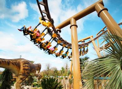 The Lost Kingdom rollercoaster ride at Paultons Park in the new forest