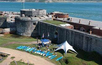 Hurst Castle Stand Up Paddle Board Event with Starboard UK