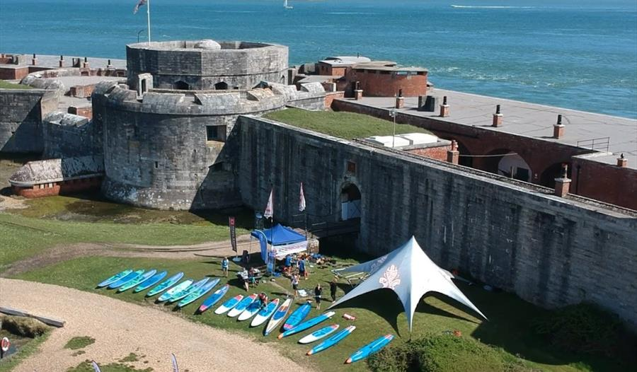Hurst Castle SUP Event 2020