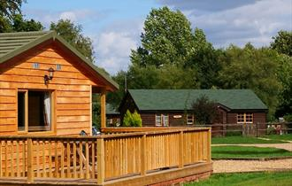 outside chalet cabin at lake farm holiday cottage and self catering in the new forest