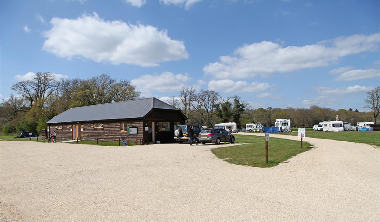 entrance at long meadow caravan & camping site in the new forest