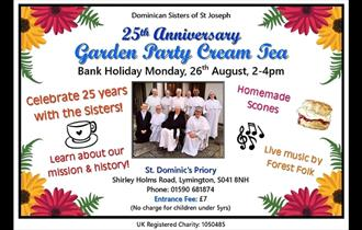 Dominican Sisters of St Joseph 25th Anniversary Garden Party Cream Tea