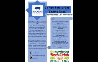 Sausage Making Demonstrations & 'New Forest Foods' Menu