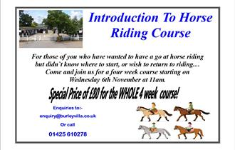 Introduction to Horse Riding Course