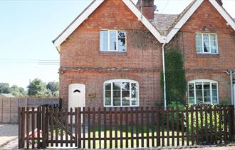 front of New Park Farm Cottage in the new forest
