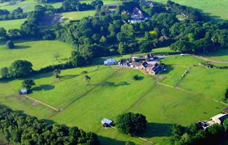 aerial birds eye view hackney park  holiday cottage and self catering in the new forest