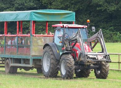 tractor ride at longdown activity farm in the new forest
