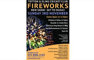 Totton & Eling Cricket Club Firework Display