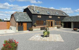 front of upper Kingston farm cottages holiday cottage and self catering in the new forest